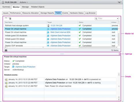 Ui Pattern Master Detail | master detail view vsphere design standards vmware code