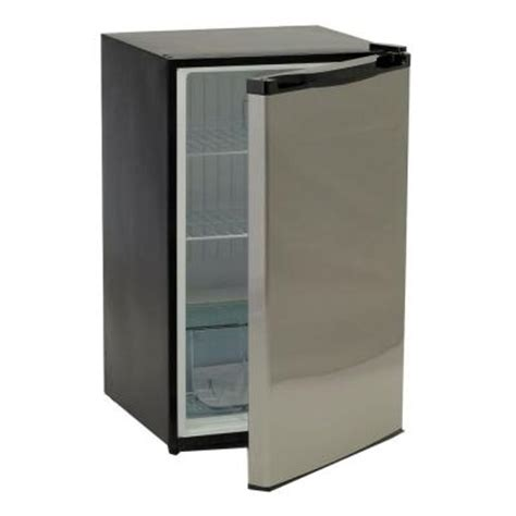 bullet 4 5 cu ft mini refrigerator in stainless steel