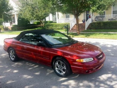 1999 Chrysler Sebring Jxi Convertible by Sell Used 1999 Chrysler Sebring Jxi Convertible 2 5l