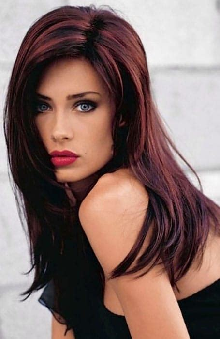light mahogany brown hair color with what hairstyle brown hair with light red highlights hairs picture gallery