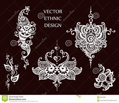henna tattoo set henna mandala set vector cartoondealer