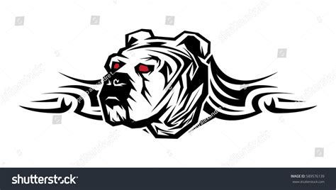 tribal bulldog tattoo tribal decorative artistic powerful strength bulldog stock