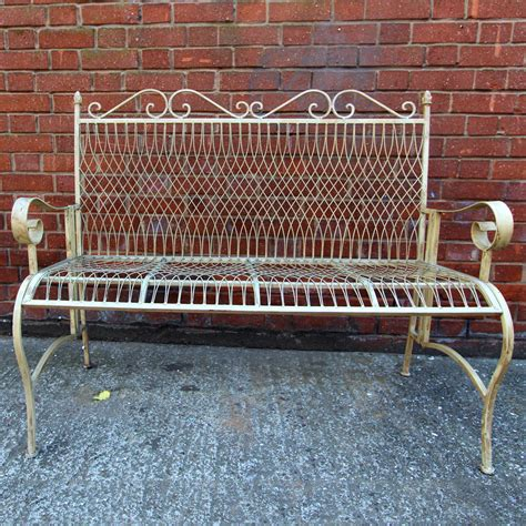 rot iron bench wrought iron bench uk 28 images white metal bench