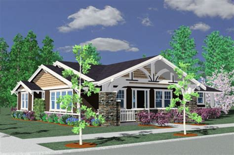 Craftsman Style House Plan 3 Beds 2 Baths 1793 Sq Ft Craftsman House Plans One Level