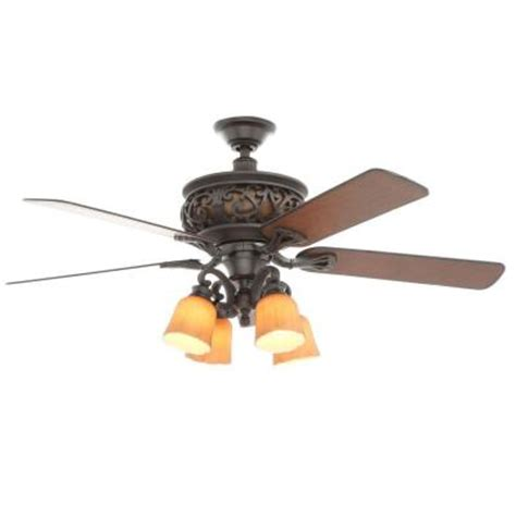 wrought iron ceiling fan hton bay ponte vecchio 54 in natural iron ceiling fan