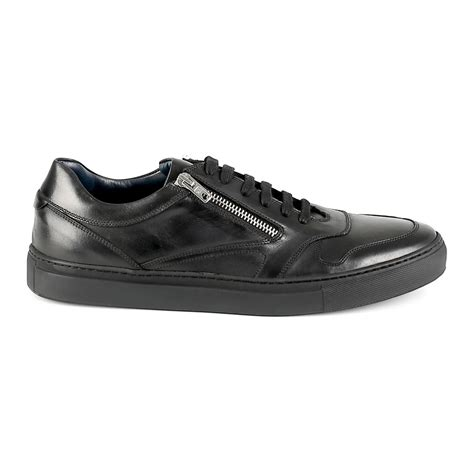 zip lace low top sneaker black 39 fabiano ricci touch of modern