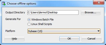 format file for bcp in sybase offline capture