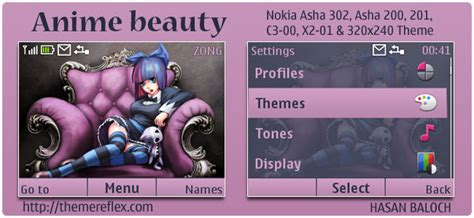 Themes Nokia X2 01 Anime | anime beauty theme for nokia c3 x2 01 asha 200 201 302