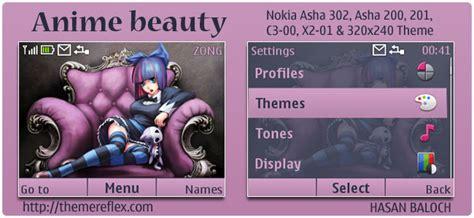 anime themes nokia 6120c anime beauty theme for nokia c3 x2 01 asha 200 201 302
