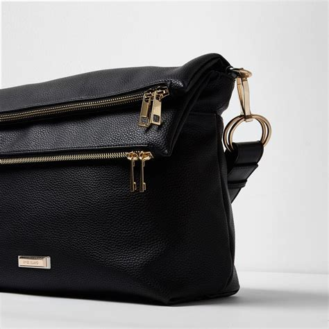 Multi Pocket River Island Bag by Lyst River Island Black Zip Pocket Slouch