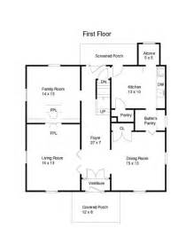 Square House Floor Plans floor plan 1915 house 001 jpg