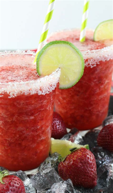 strawberry margarita non alcoholic frozen strawberry margarita