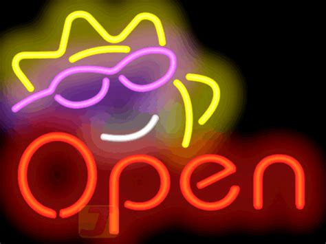 sunshine neon open sign ogm   jantec neon