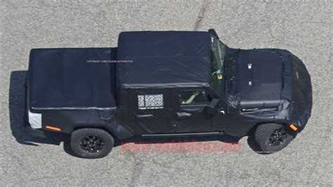 jeep with truck bed new spy shots show 2020 jeep wrangler pickup with