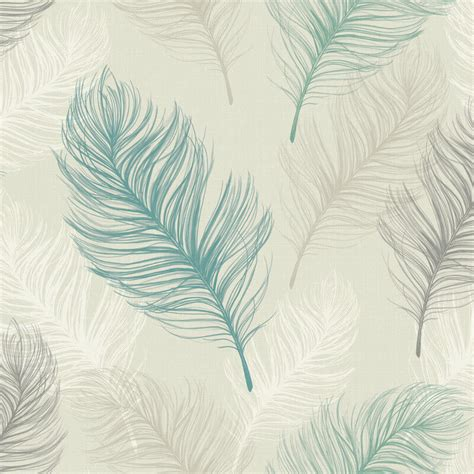 feather wallpaper home decor arthouse whisper feather wallpaper in teal 669801
