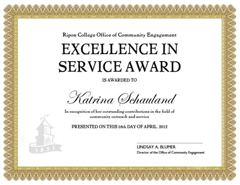 long service award certificate template invitation template