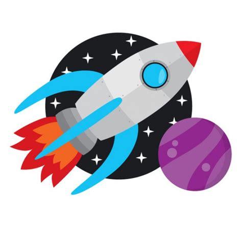 imagenes de niños quemados con cohetes cohete espacial volando en el espacio vector gratis