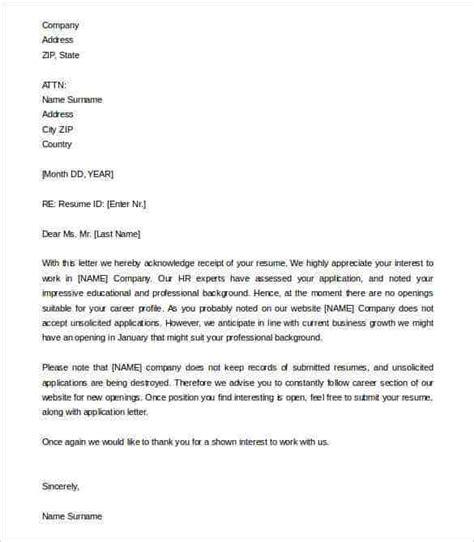 acknowledgement letter templates