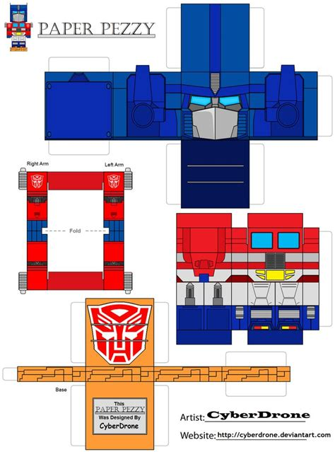 Papercraft Transformers Optimus Prime - paper pezzy optimus prime g1 by cyberdrone deviantart