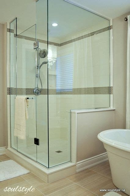 bathroom knee wall glass wall shower 4 x 5 knee wall on side 8 quot x 20