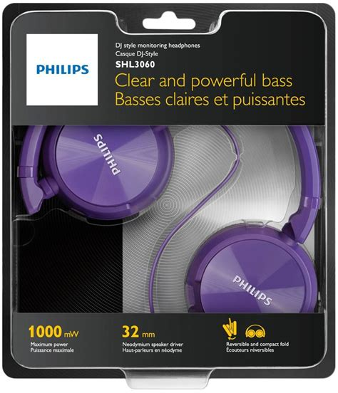 Headphone Headset Philips Shl 3060 headphone philips dj shl 3060 roxo mundo eletr 244 nico