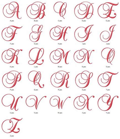 design with font fancy satin script monogram fonts alphabet machine