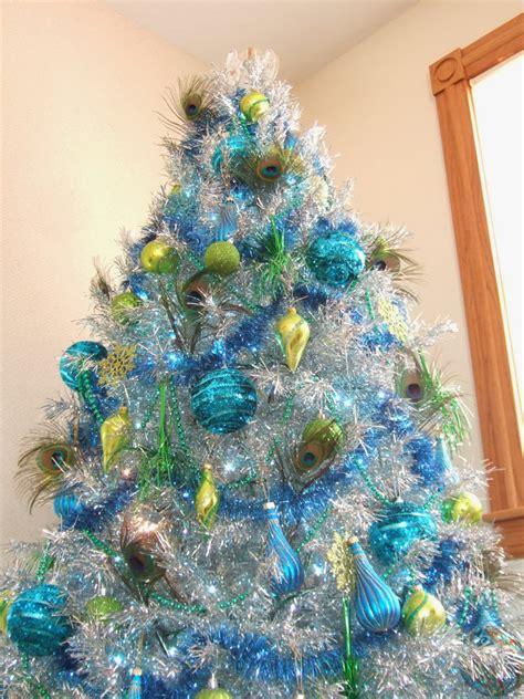 tinsel tree family peacock tinsel tree