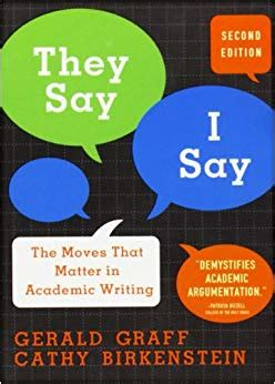 Amazon Com They Say I Say The Moves That Matter In Academic Writing 9780393933611 Gerald They Say I Say Chapter 4 Templates