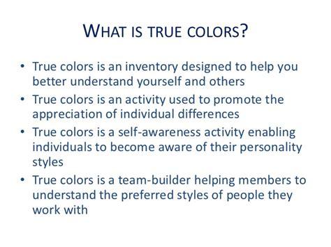 true colors activity true colors