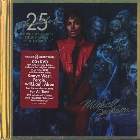 Thriller 25th Anniversary Edition Album Cover Michael Jackson Works With Akon Fergie William Kanye West For 212 Re Release by Michael Jackson Thriller 25th Anniversary Limited