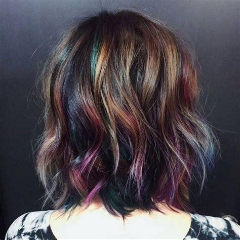 the color for 2017 oil slick hair color trend for brunettes 2017 best