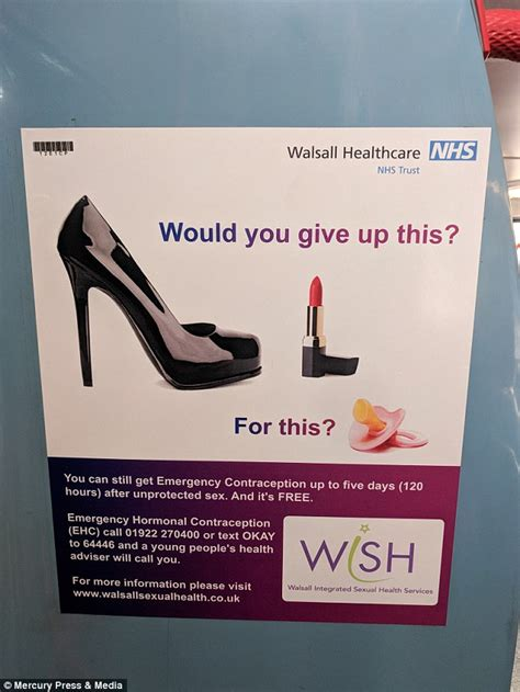 commuter blasts sexist nhs  spotting poster