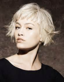 how to make bob haircut look piecy razored piecy disconnected platinum blonde hair bob