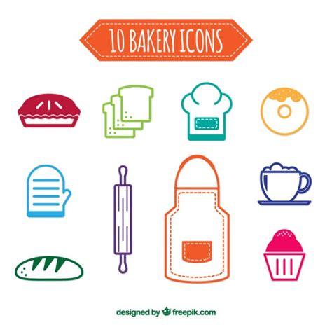 de colores bakery colors bakery icons vector premium