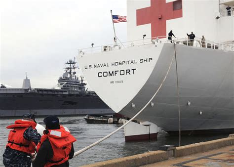 usns comfort deployment hospital ship commander relieved right before deployment
