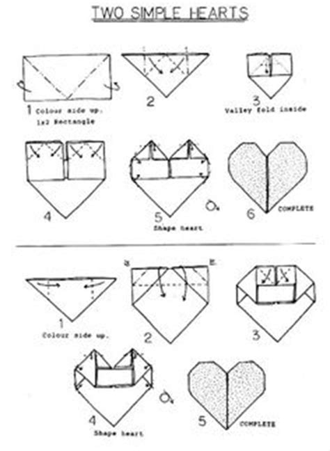 How To Fold Paper Hearts Step By Step - 1000 images about origami hearts on origami