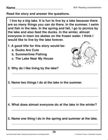 Reading Comprehension Worksheets Grade 2 by 20 Best Images Of 2nd Grade Comprehension Worksheet