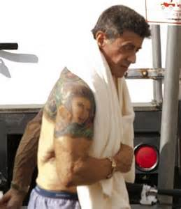 does sylvester stallone have tattoos steroid junkie sylvester stallone on craze