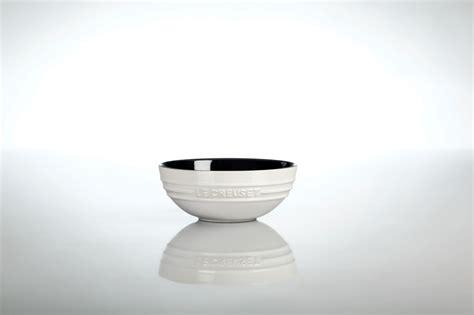 le creuset stoneware multi bowl set 3 black white