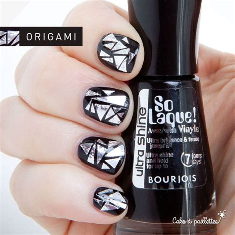 how to make origami nails cako 224 paillettes origami aluminium inspired by