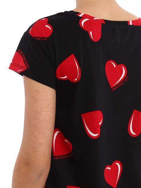 heart pattern shirt heart pattern t shirt by love moschino t shirts ikrix