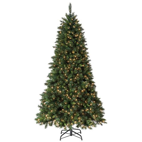 shop holiday living 7 5 ft pine pre lit artificial