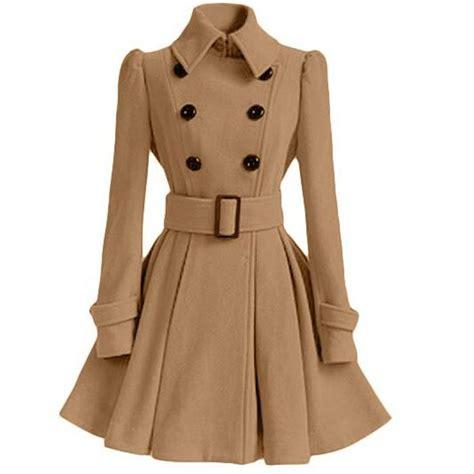 Jaket Wanita Parka Burberry 2017 fashion europe winter autumn woolen coat belt buckle