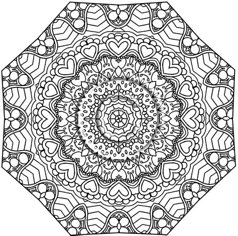 printable kaleidoscope coloring pages for adults kaleidoscope coloring pages bestofcoloring com