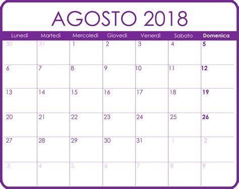 Año 0 Calendario Calendario Agosto 2018 Calendario Agosto 2018 Pdf Word