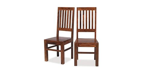 Jali Home Design Reviews by Jali Sheesham High Back Slat Dining Chairs Pair