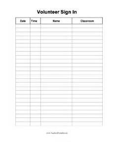 free volunteer sign in sheet template volunteer sign in sheet