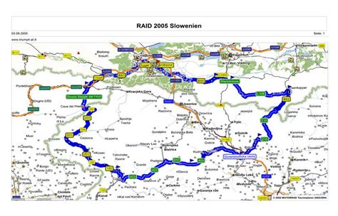 Motorradfahren In Slowenien by Karte