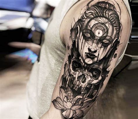 20 Black And Grey Tattoos That Capture Emotions Inkdoneright Black And Grey Tattoos