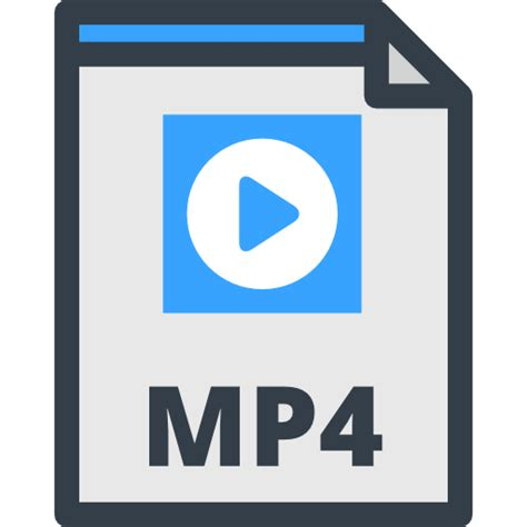 audio format of mp4 mp4 free interface icons